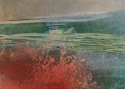 Pennine Winter series _ No:  002a - oil painting on cardboard -  10.5  cm x 14.8 cm