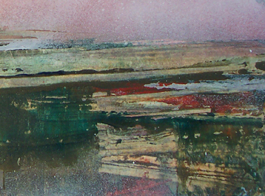 Pennine Winter series _ No:  002b - oil painting on cardboard -  10.5 cm x 14.8 cm