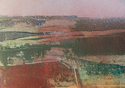 Pennine Winter series _ No:   023a - oil painting on cardboard - 10.5  cm x 14.8 cm
